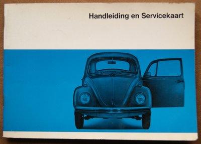 VW 1200 / 1300 / 1500  Augustus 1967  ( Handleiding en Servicekaart )