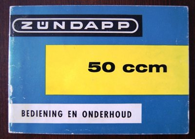 Zündapp 50ccm bediening en onderhoud