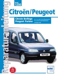 Citroën Berlingo / Peugeot Partner 1998-2001  ( Druck auf Bestellung )