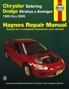 Chrysler Sebring and Dodge Stratus/Avenger for 1995 thru 2006 (Does not include information specific to Flexible Fuel Vehicles)