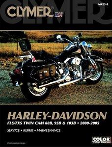 Harley Davidson FLS/FXS Twin Cam 88B, 95B & 103B 2000-2005 M423-2. Includes Color Wiring Diagrams / AANBIEDING !!