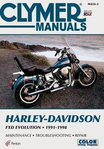 Harley Davidson FXD Evolution 1991-1998 M424-2. Harley-Davidson FXDB, FXDC, FXDL, FXDWG, FXD and FXDS-CONV manual.