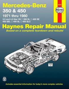 Mercedes W107 350 & 450 covering 350 SL Roadster, 450 SL/SLC Coupe & Roadster W107 , 450 SE/SEL V8 Sedan (1971-1980)