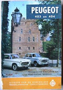 Peugeot 403 en 404  1962
