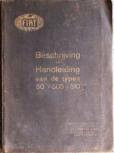 Fiat type 501 10/15 P.K., type 505 15/20 P.K., type 510 20/30 P.K. 1923