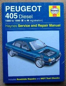 Peugeot 405 Diesel (E to N registration)  1988-1996