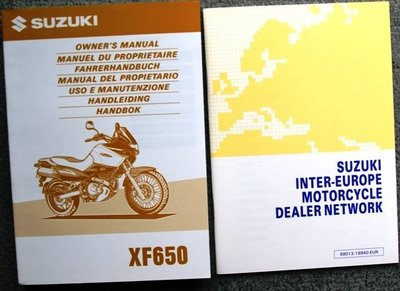 Suzuki XF650  1997 plus Dealerslijst