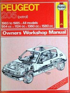 Peugeot 205 (petrol), 954cc, 1124cc, 1360cc, 1580cc  1983-1985