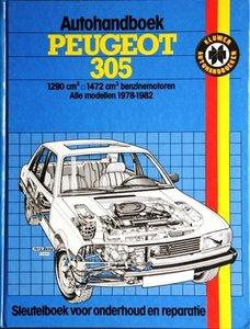 Peugeot 305, 1290 cm3, 1472 m3, benzinemotoren alle modellen  1978-1982