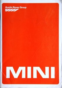 Mini City, City E, HLE & Mayfair Saloon, HL Saloon & Stationcar, 95 Van & Pick-up 1982