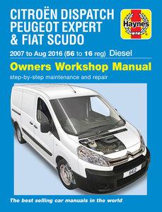 Citroen Dispatch, Peugeot Expert & Fiat Scudo Diesel 56 to 16 (07 - Aug 16)