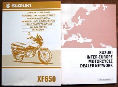 Suzuki XF650  1998 plus Dealerslijst