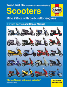 Twist and Go (automatic transmission) Scooters 50 - 250cc with carburettor engines