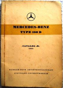 Mercedes Type 180 D Catalog