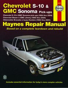 Chevrolet S-10 & GMC Sonoma pick-ups (1994-2004). Inc. S-10 Blazer & GMC Jimmy (1995-2004), GMC Envoy (1998-2001) & Oldsmobile Bravada/Isuzu Hombre (1996-2001)