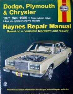 Dodge, Plymouth, & Chrysler RWD 6 cylinder & V8 (1971-1989)