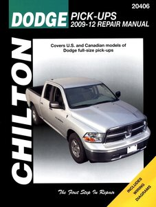 Dodge Pick-Up for 2009-12 covering all models (excludes 2009 fleet models equipped with the 5.9L diesel engine)