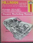 Hillman-Chrysler-Avenger-12501300-1500-&-1600-allmodels-1248-1295-1498-&-1598cc--1970-1977